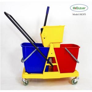 Xe làm vệ sinh HiClean HC073 46L 2 xô khung nhựa