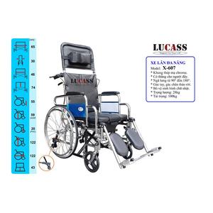 Xe lăn đa năng Lucass X-607