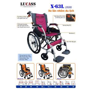 Xe lăn nhôm du lịch Lucass X-63L