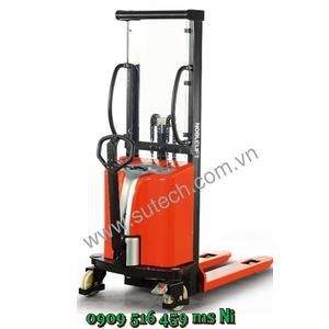 Xe nâng bán tự động 1 tấn cao 1600mm, Xe nâng điện đẩy tay 1 tấn 1.6m