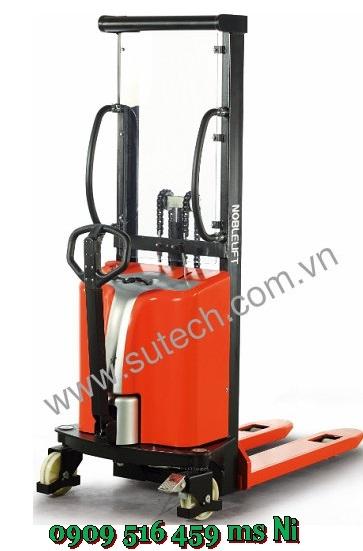 Xe nâng bán tự động 2 tấn cao 1600mm, Xe nâng điện đẩy tay 2.0 tấn 1.6m