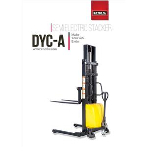 Xe nâng bán tự động chân siêu rộng tải nâng 1000kg độ cao nâng 1600mm Model DYC10-A16