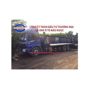 Xe nâng đầu 3 chân chở máy công trình, máy gặt thaco auman C240C