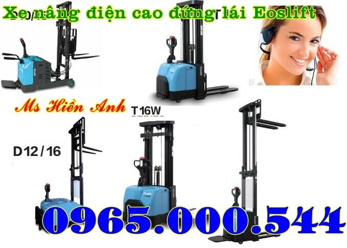 Xe nâng điện cao đứng lái 1.5 tấn - 4m D15 - Eoslift