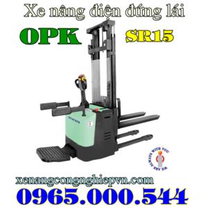 Xe nâng điện đứng lái 1.5 tấn 3 m Nhật Bản hiệu OPK