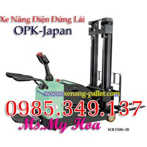 Xe nâng điện đứng lái 1500kg-3m OPK-Japan