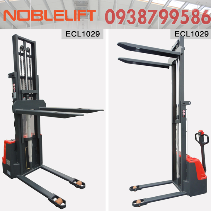 Xe nâng điện đứng lái 1 tấn ECL10 - Model cho kho hẹp