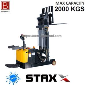Xe nâng điện đứng lái nâng cap 1m6-5m Model MRS20D tải nâng 2000Kg