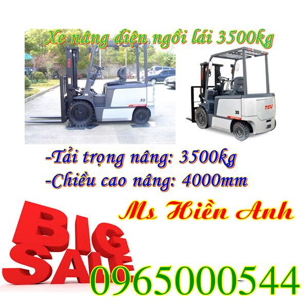 Xe nâng điện ngồi lái 3500 kg và những ưu điểm vượt trội