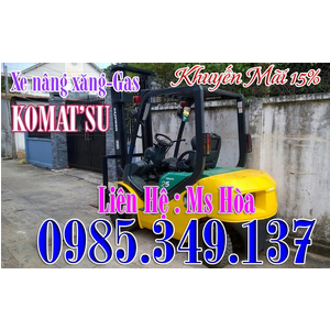 Xe nâng ngồi lái Xăng - Gas KOMATSU