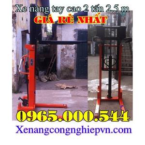 Xe nâng tay cao 1.5 tấn 2.5 m tại Hà Nội giá rẻ nhất