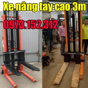 Xe nâng tay cao 3m tải trọng 1 tấn 1.5 tấn giá rẻ tại Hà Nội