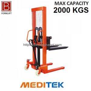 Xe nâng tay cao 2 tấn 1.6M (Model: HS E2.0/16) Hãng Meditek Đài Loan