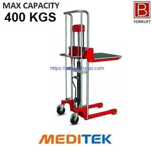 Xe nâng tay cao mini 400 Kg (Model: HS04) Hãng Meditek Đài Loan