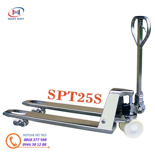 Xe nâng tay Inox model SPT25S dùng trong nghành thực phẩm