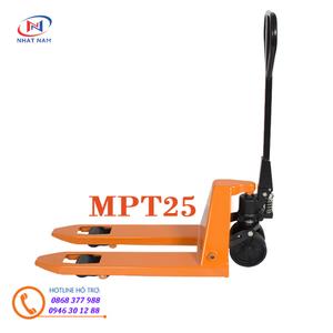 Xe nâng tay siêu nhỏ MPT25 kích thước càng 520x800mm