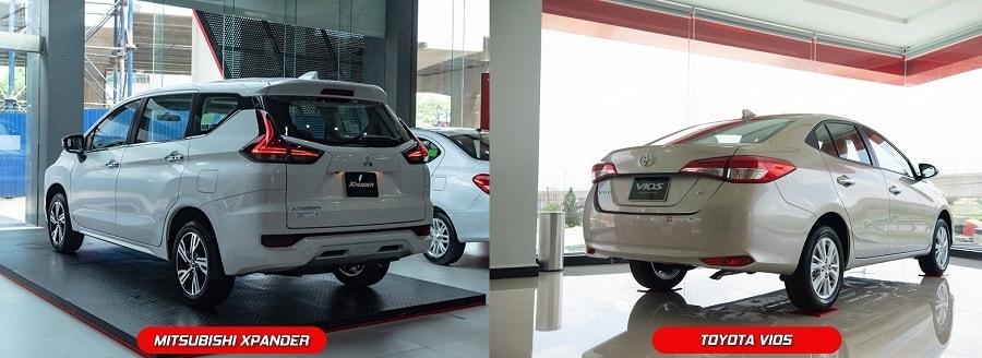 xe ô tô Toyota Vios và Mitsubishi XPander