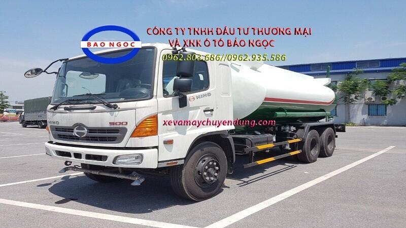 Xe téc phun nước tưới cây rửa đường 15 khối HINO FM