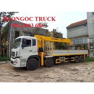 Xe tải 4 chân dongfeng gắn cẩu 12 tấn soosan