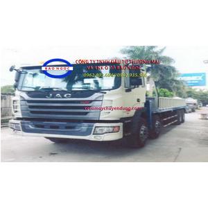 Xe tải jac 4 chân gắn cẩu TADANO 5 tấn 4 đoạn