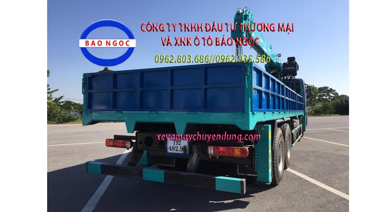 Xe tải 4 chân thaco auman gắn cẩu 12 tấn