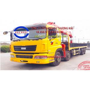 Xe tải 5 chân dongfeng TMT gắn cẩu 14 tấn Kanglim