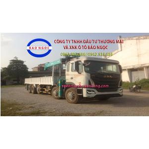 Xe tải 5 chân jac gắn cẩu 10 tấn HKTC 10015