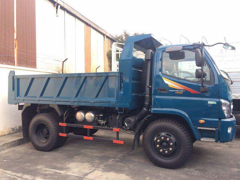 Xe tải Thaco Forland FD650E4-4WD/FD120-4WD - Thùng ben - Tải 6,4 tấn