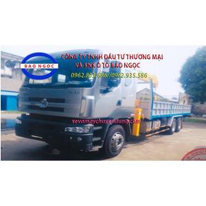 Xe tải chenglong 3 chân gắn cẩu SOOSAN 7 tấn 6 đốt SCS746L