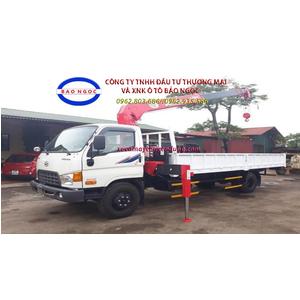 Xe tải hyundai HD120S gắn cẩu unic 3 tấn 4 đốt ( URV344)