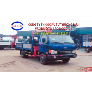 Xe tải hyundai HD700 gắn cẩu unic 344