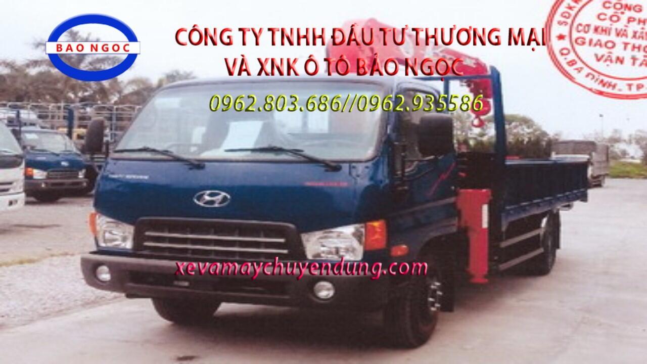 Xe tải hyundai HD700 gắn cẩu unic 345