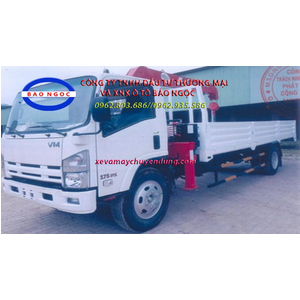 Xe tải isuzu 8 tấn gắn cẩu unic 3 tấn