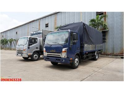 Xe tải JAC N650 - 6,5 Tấn - Thùng mui bạt