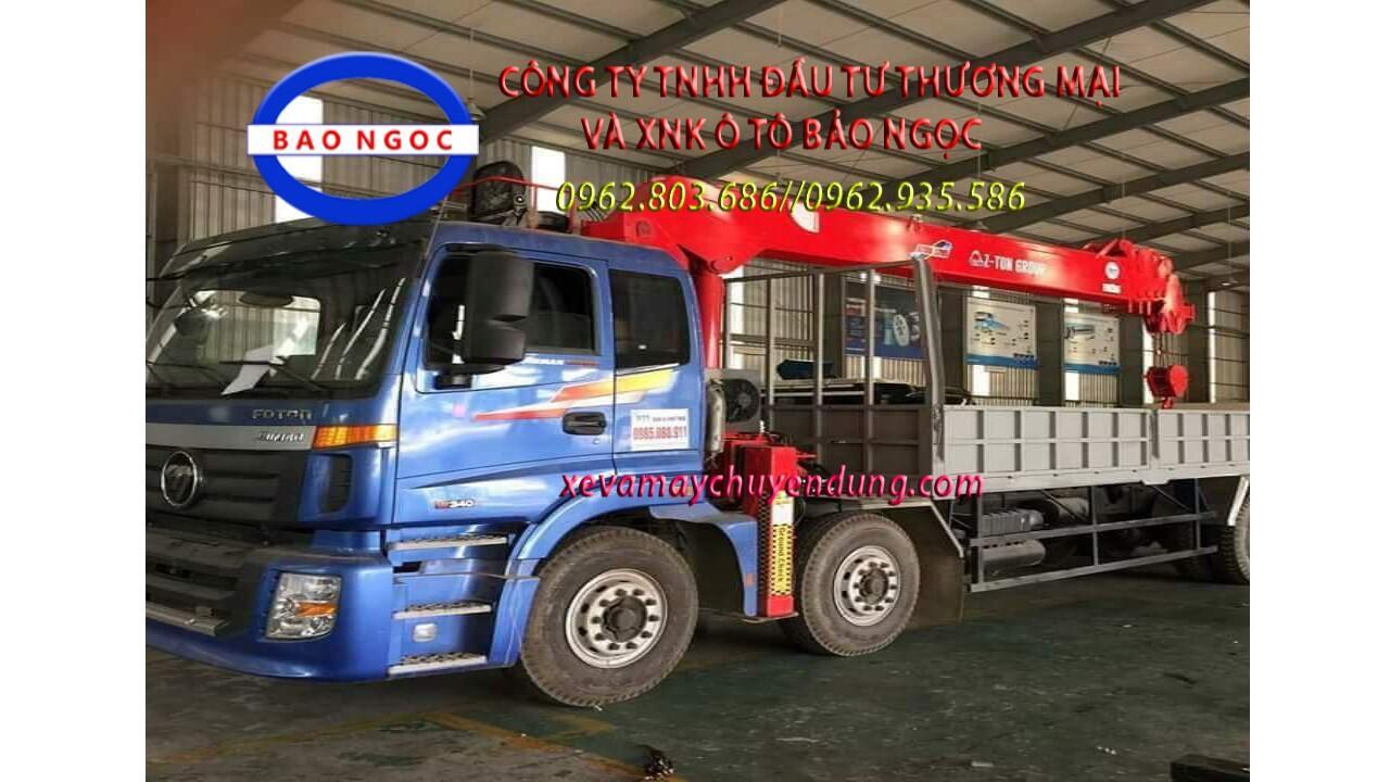 Xe tải thaco auman 4 chân gắn cẩu 7 tấn