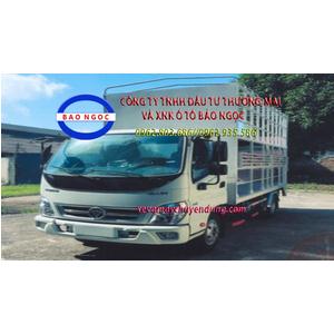 Xe tải thaco ollin 350 thùng 2 tầng chở xe máy