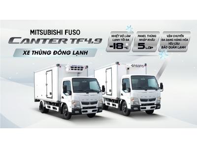 XE TẢI THÙNG ĐÔNG LẠNH MITSUBISHI FUSO CANTER TF4.9 TỐI ƯU GIẢI PHÁP VẬN CHUYỂN HÀNG HÓA ĐÔNG LẠNH
