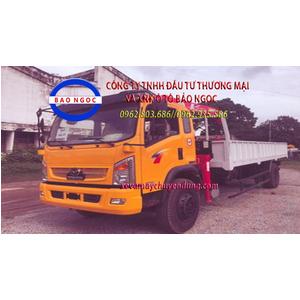 Xe tải TMT Cửu Long 7 tấn gắn cẩu unic 3 tấn 4 đốt