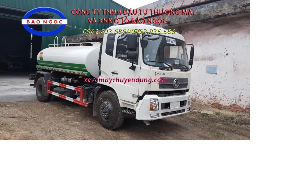 Xe téc nước dongfeng 9m3 nhập khẩu