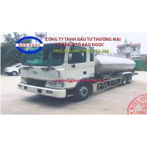 Xe téc chở dầu ăn 15 khối hyundai hd210