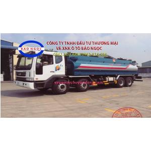 Xe téc chở xăng dầu 21 khối daewoo 4 chân