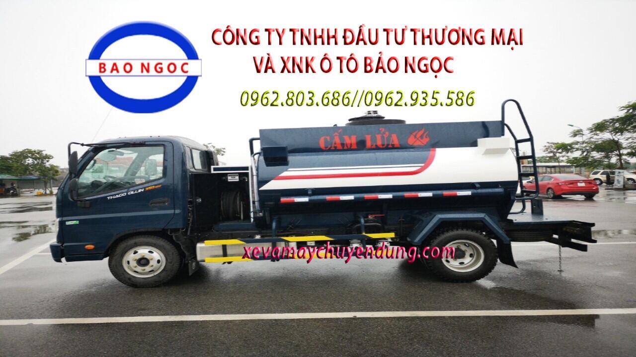 Xe téc chở xăng dầu 4 khối cấp lẻ