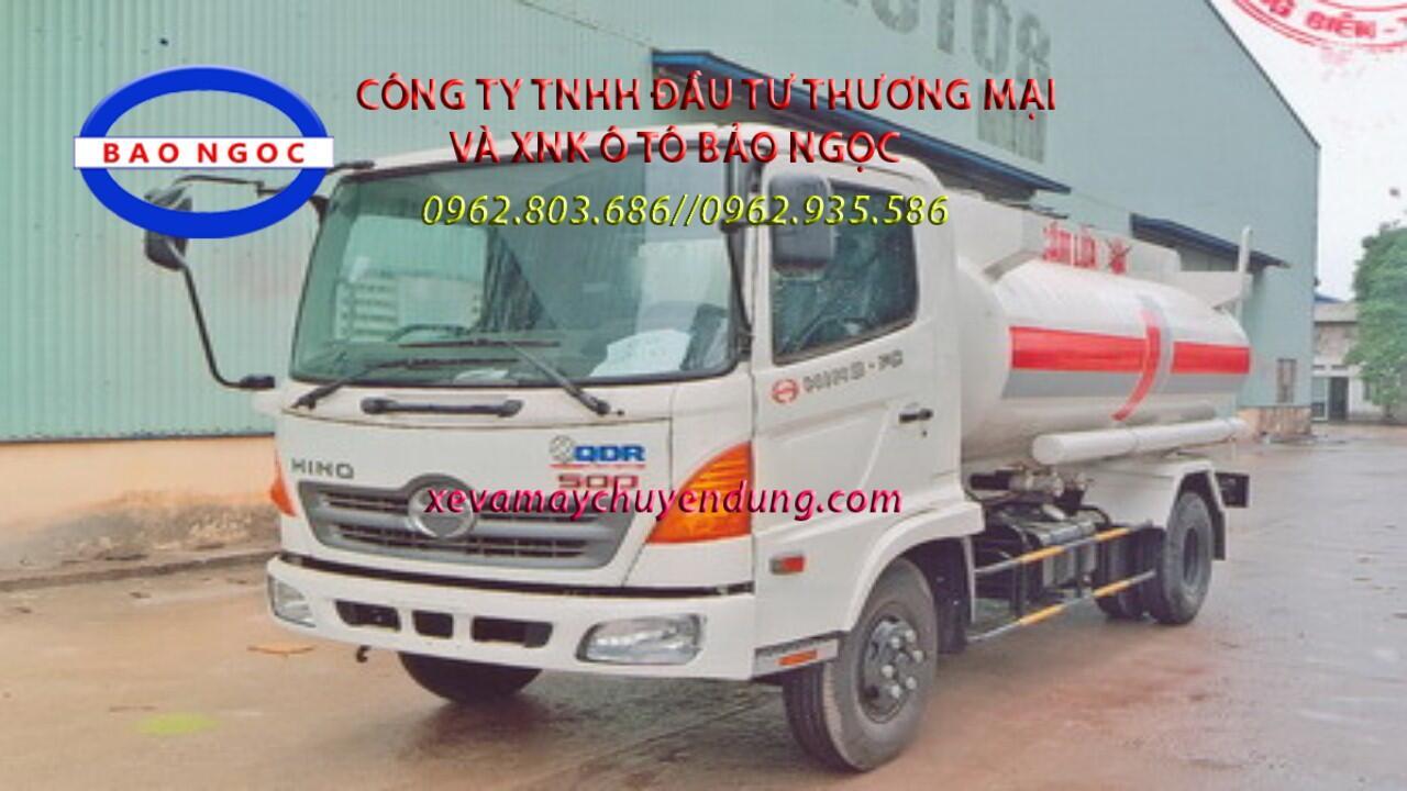 Xe téc chở xăng dầu 8 khối hino fc
