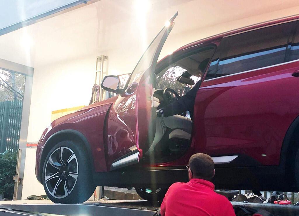 Hình ảnh cho thấy xe Vinfast đã hoàn thiện nội thất.