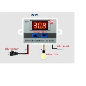Bộ điều khiển theo nhiệt độ XH W3001