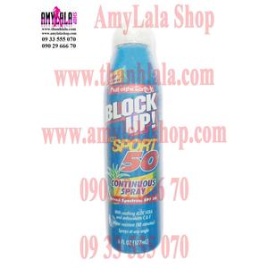 Xịt chống nắng đa Vitamin Block Up® Dry Sport SPF50 - 0933555070 - 0902966670 - www.amylalashop.com