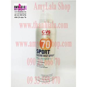 Xịt chống nắng làm sáng da CVS Sport Clear Mist Spray Sunscreen SPF70 142g - 0933555070 - 0902966670