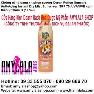 Xịt chống nắng Ocean Potion SPF70 Vitamin D - 0902966670 - 0933555070 - www.amylalashop.com :