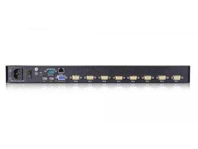 LCD KVM over IP Console with 8 port VGA KVM-17 - XL1708i