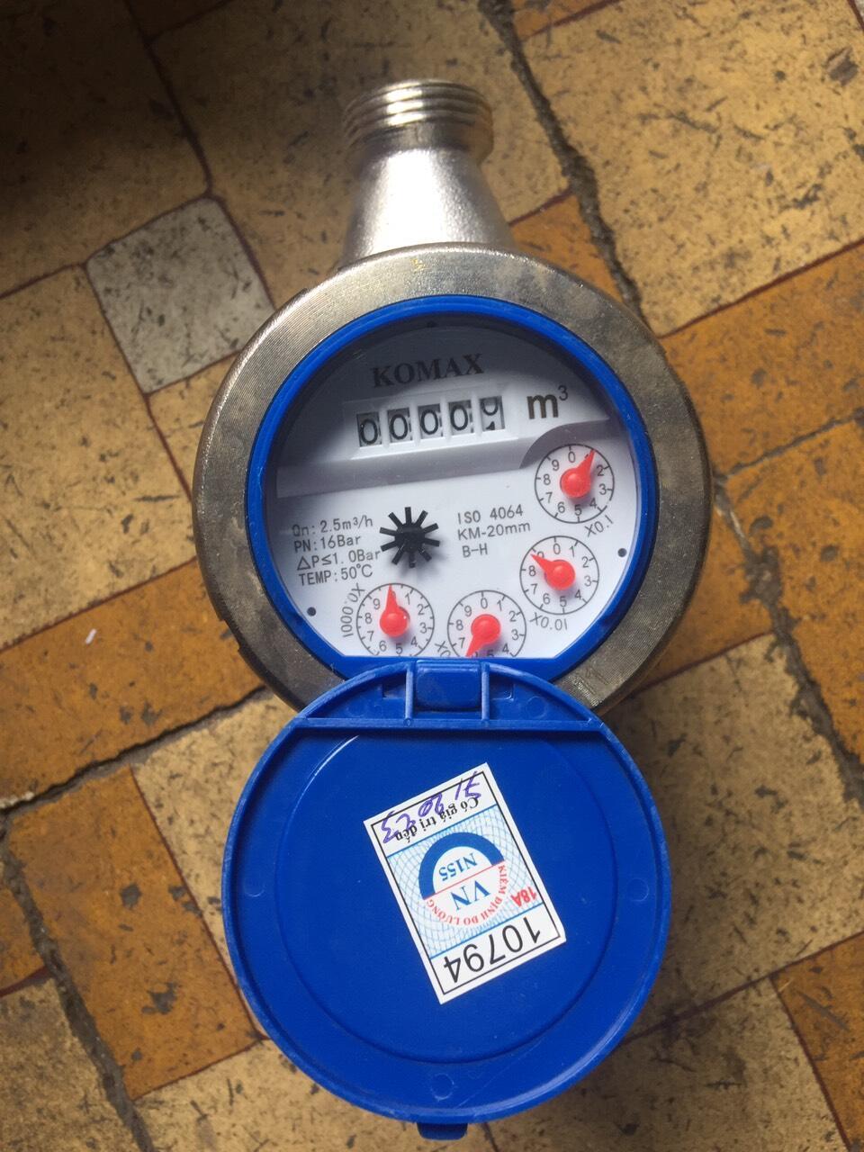 Đồng hồ nước inox ren
